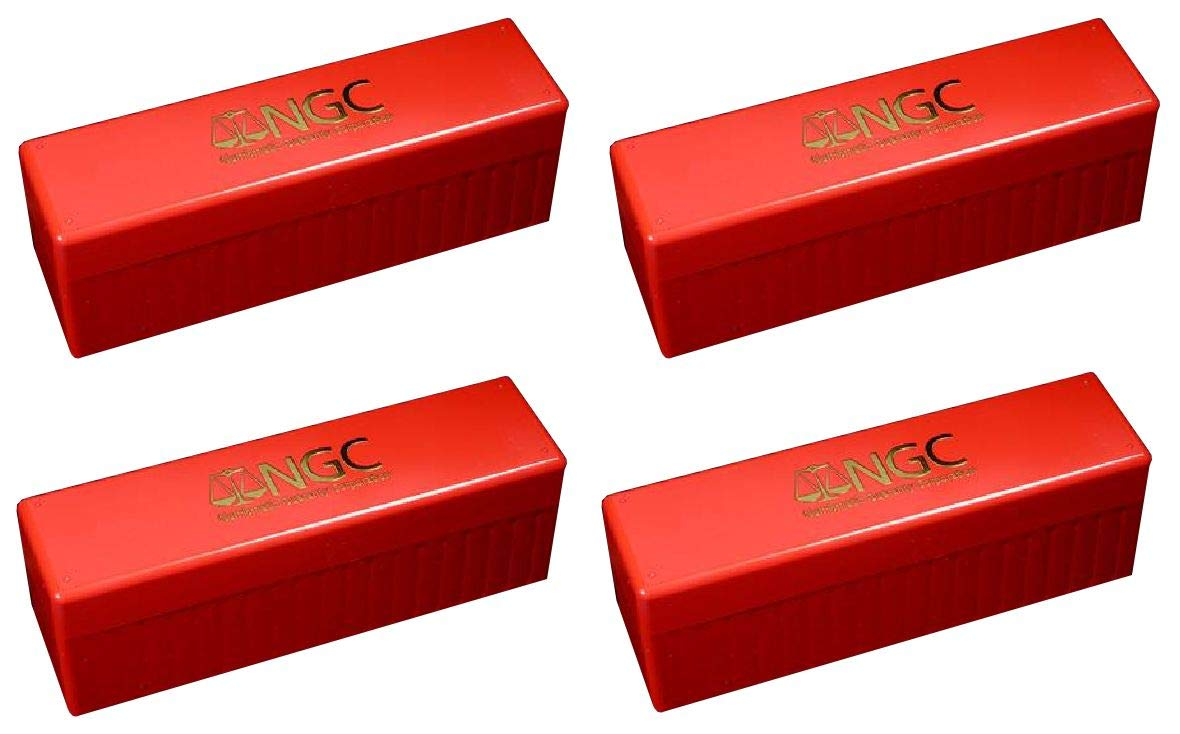 NGC Plastic Storage Box for 20 Slab Coin Holders Red 4 Pak