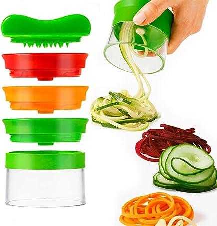Spiralizer 3 Blade Hand Held Vegetable Spiralizer Spiral Slicer Creates Endless Spaghetti Noodles Vegetable Spiralizer And Cutter Spiralizer