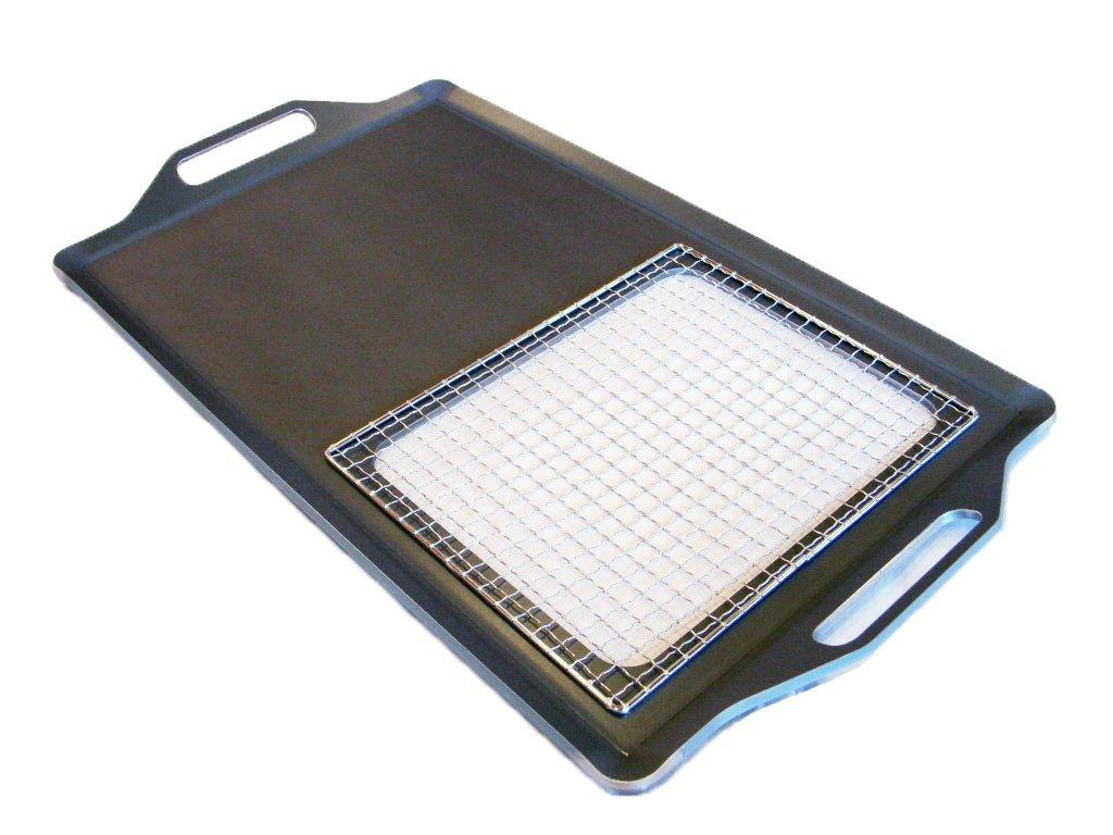 極厚グリルプレート (網焼きタイプ) t9.0mm 690mm x 390mm   B00HTXAFP6