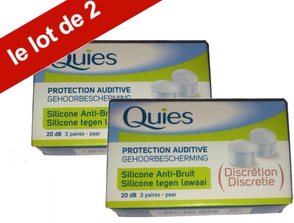 Lot de 2 Boites de 3 Paires Quies Boules Quies de Protection auditive en silicone Anti-Bruit 20dB
