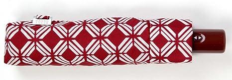 Paraguas Plegable Ultra Fino con Abre Cierra automático. Paraguas Vogue de Color Rojo