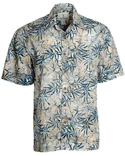 Artisan Outfitters Mens Oasis Cotton Batik Shirt A0214-28 (L, Tropic Green)