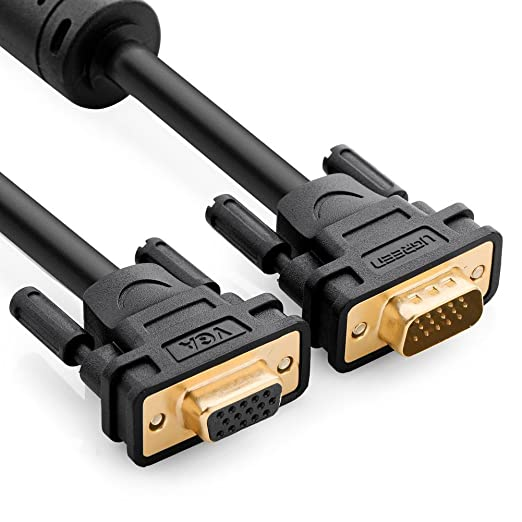 9 opinioni per UGREEN Prolunga VGA, Cavo VGA Maschio Femmina 15pin Full HD 1080P Connettori