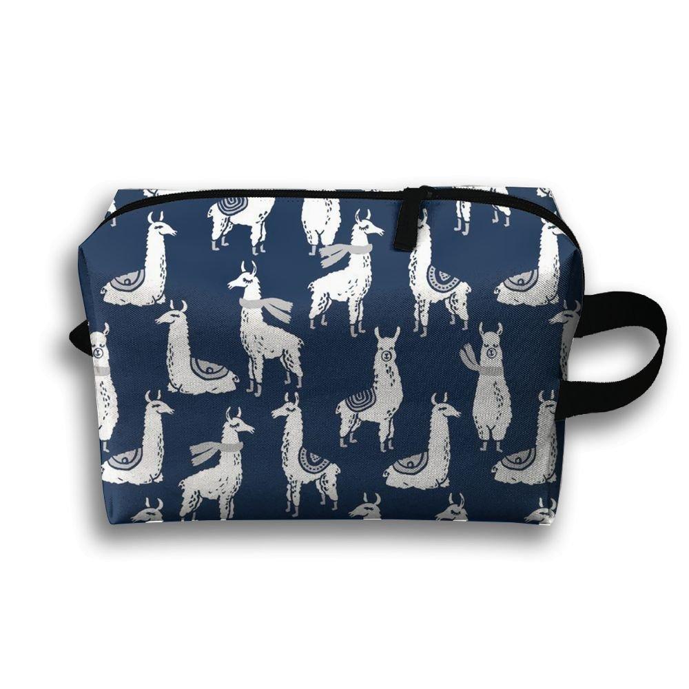 Navy Llama Toiletry Bag Travel Cosmetic Dopp Kit Tactical Bag Accessories Cosmetic Makeup Case CT12