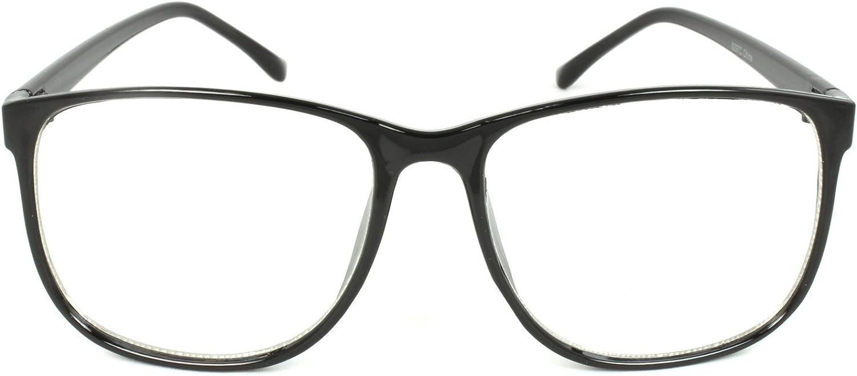 Panto Oversized Thin Frame Nerd Fashion Glasses