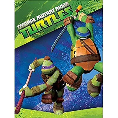 Teenage Mutant Ninja Turtles Party Pack for 16 Guests: Straws, Plates, Napkins, Cups, and Table Cover (Bundle for 16)
