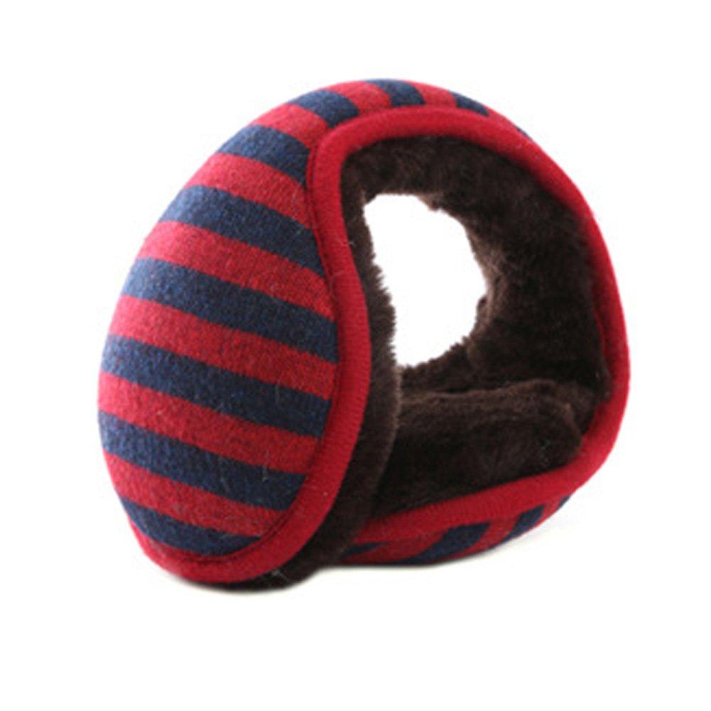 Neaer Fashion Stripe Ear Muffs Winter Fur Ear Warmers Autumn Winter Earmuff For Men And Women