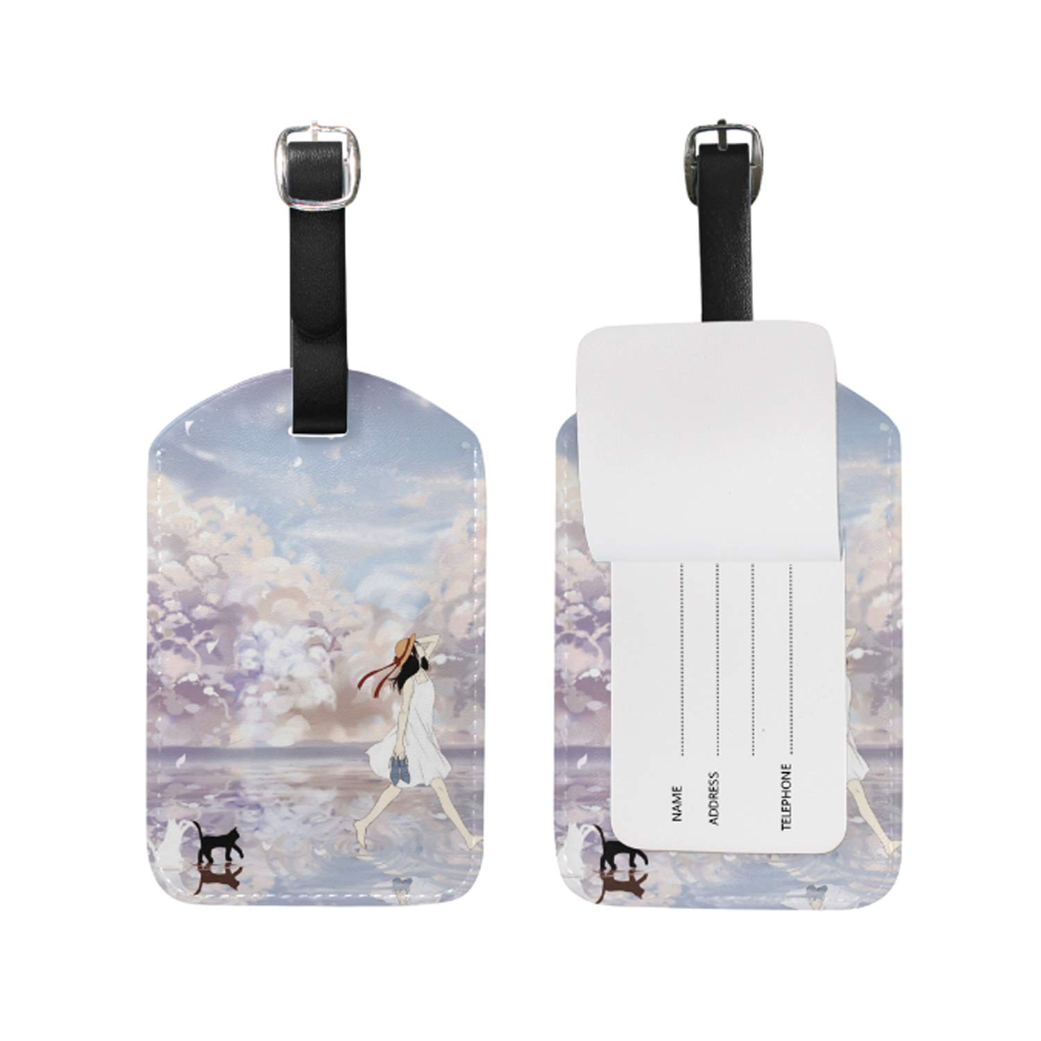 Dragonfly And Damselfly Print Luggage Identifiers with Strap Closure