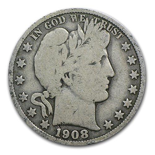 1908 O Barber Half Dollar VG Half Dollar Very Good