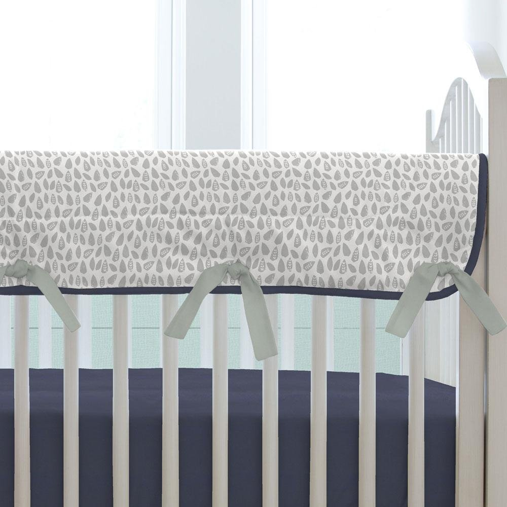 Carousel Designs Navy and Gray Woodland Crib Rail Cover by Carousel Designs