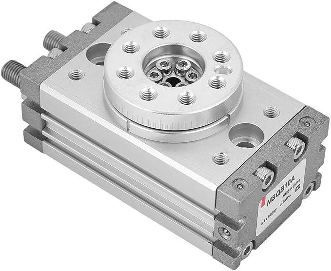Cylindre pneumatique Rotatif de Type 15 mm SMC Type 180 degr/és MSQB-10A 0~60 /° C MLMLH Cylindre pneumatique MSQB-10A
