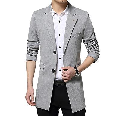 YiLianDa Herren Classic Slim Fit Sakko Blazer Freizeit Business Kurzjacke  Anzugsjacke Kurzmantel  Amazon.de  Bekleidung f62b04f984