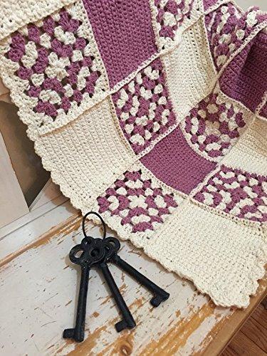 Berries & Cream Hand Crocheted Baby Blanket by Kat's Keepsakes