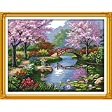 Benway Counted Cross Stitch Japanese Beautiful Scenery 14 Count 57x45CM