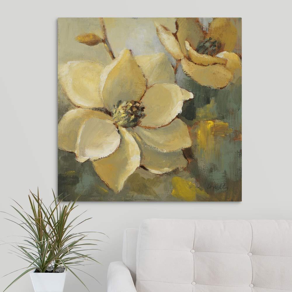 Magnolias After The Rain I Canvas Wall Art Print, 30 x30 x1.25