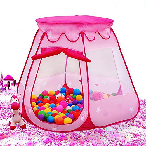 qiqijiayuan Children's six-Sided Tent Princess Play Ball Pit Outdoor Indoor Game Play Toys House, Ocean Ball Not Included
