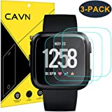 CAVN 3-Pack Screen Protector Compatible with Versa/Versa Lite (Not for Versa 2), 9H Tempered Glass Screen Protector Compatible Versa 2018 and Versa Lite Edition Smartwatch 2019, Not for Versa 2