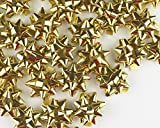 "Mini Metallic Confetti Bows, 1"" Gift Wrap Bows for Christmas, Holidays and Birthdays by Emerald Craft & Hobby (100, Gold)"