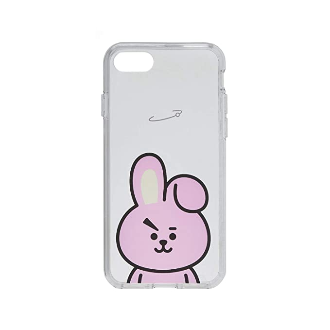 hot sale online 6ef27 608aa BT21 Official Merchandise by Line Friends - Cooky Character Clear Case for  iPhone 8 Plus/iPhone 7+, Pink