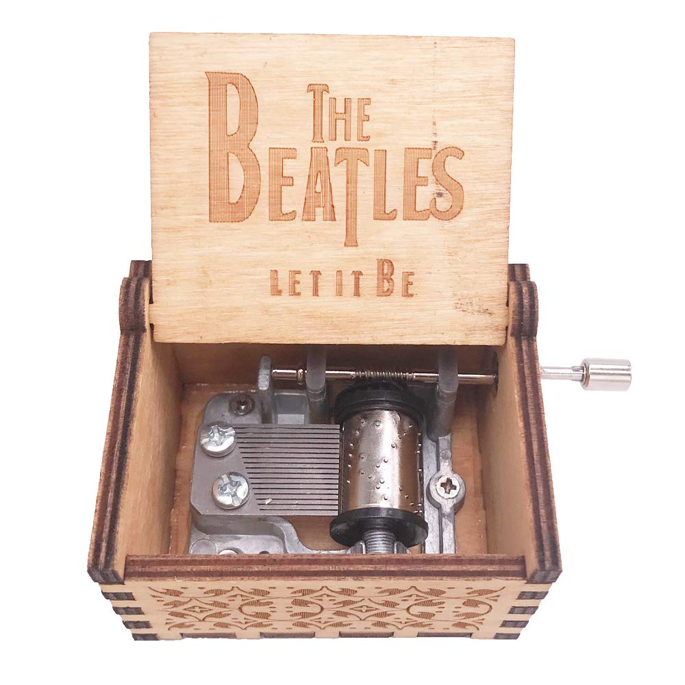 YouTang The Beatles Music Box della manovella Carillon in Legno Intagliato Regali Musicali, Play Let it be Earthen Shenzhen Youtang Trade Co. Ltd PTS-brown