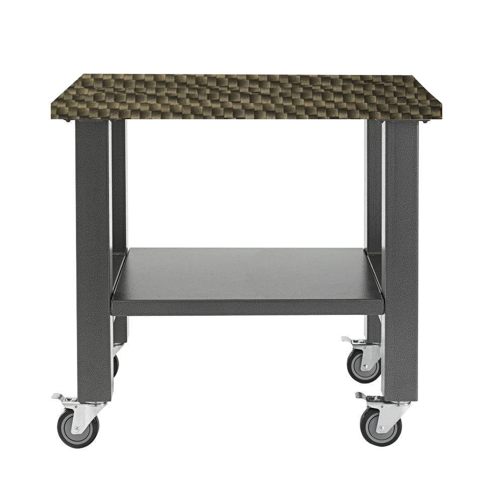 Workbench Top Stylish Bench Top Wrapped with New Age Carbon Fiber Effects A Car and Motor Cycle Enthusiast Must Have Item (60'' x 24'', Carbon Fiber)