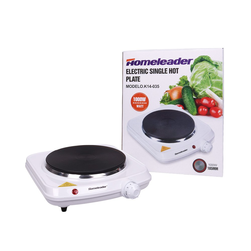 Homeleader Single Hot Plate, Stainless Steel Electric Contertop Burner, 1000W by Homeleader (Image #8)