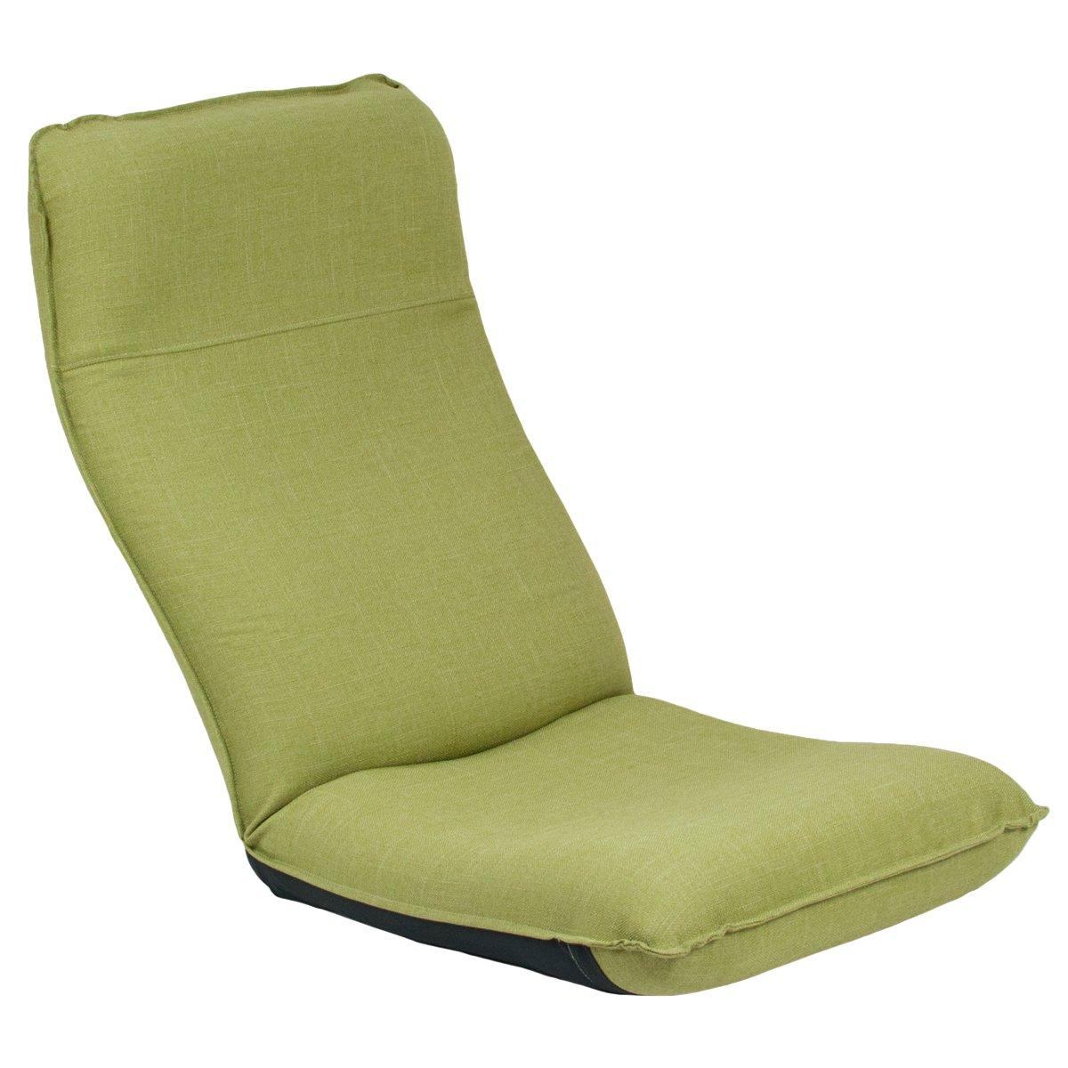 座椅子 産学連携 ヘッドレスト付き座椅子 CBC313 グリーン 日本製 ymz-099 B016CTXULI グリーン グリーン