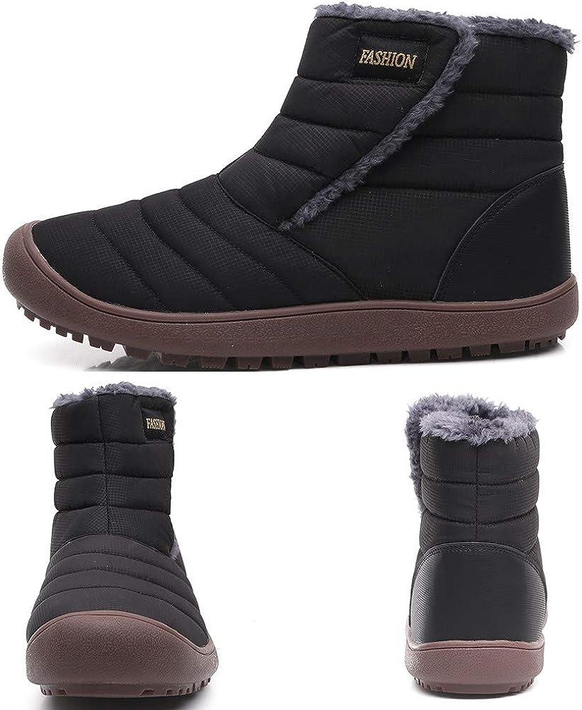 FZUU Mens Womens Winter Snow Boots Anti