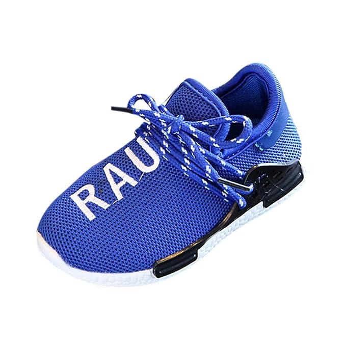 innovative design 331f6 0c3c6 Rawdah-- Scarpe Zeppe Bambino Sneakers Eleganti,Ragazza Casual Vintage Soft  Leather Corsa Camminata Calcetto Scarpette Stivali con Sportive in Mesh  Atletico ...