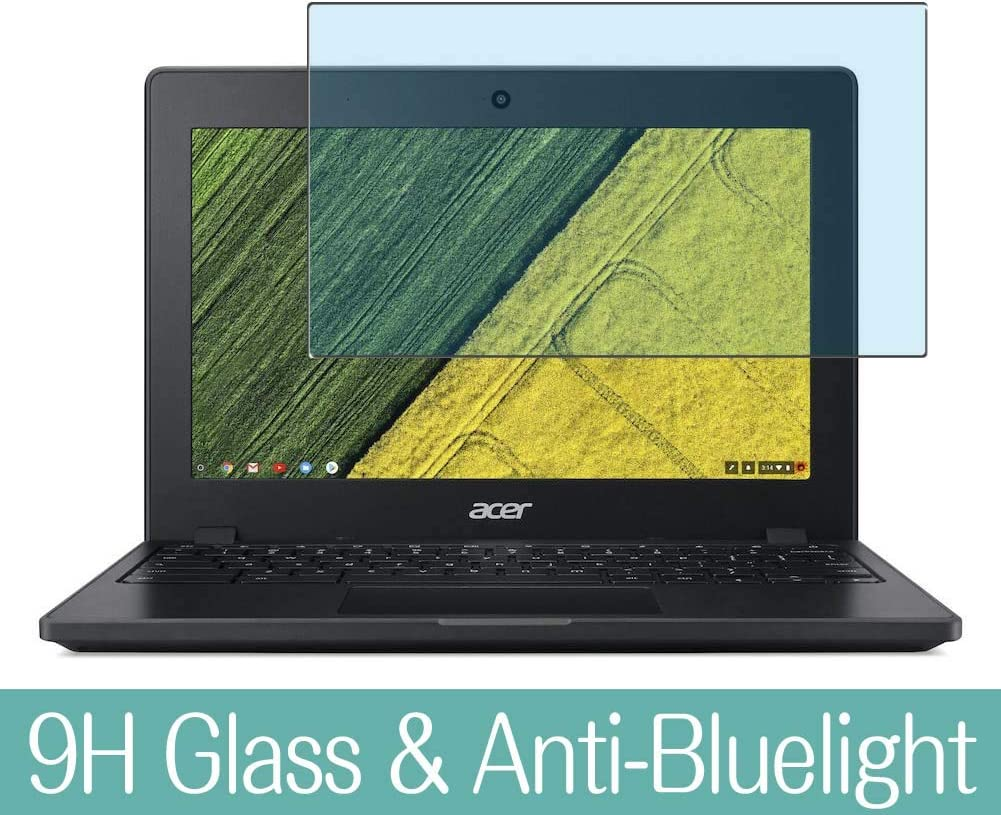 "Synvy Anti Blue Light Tempered Glass Screen Protector for Acer Chromebook 11 C771 / C771T 11.6"" Visible Area 9H Protective Screen Film Protectors (Not Full Coverage)"