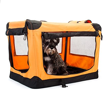 Jaula de tela plegable de viaje para perros medianos (70 cm. de ...