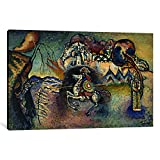 Museum quality Saint George Rider and the Dragon by Wassily Kandinsky Canvas Print. Out of passion for art, iCanvas handcrafts the highest quality giclee art prints, using only premium materials. The art piece comes gallery wrapped, ready for wall ha...