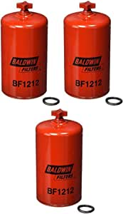 Baldwin BF1212 Heavy Duty Diesel Fuel Spin-On Filter (Pack of 3)