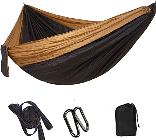 Travel Best Parachute Hammock with 2 x Hanging Straps for Backpacking WoneNice Camping Hammock Beach Yard and Garden Portable Lightweight Double Nylon Hammock Camping