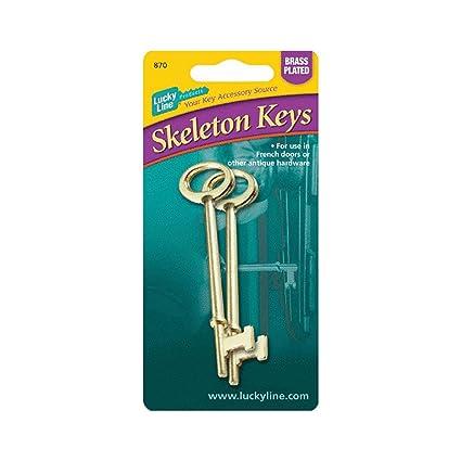 High Quality Lucky Line 87002 Skeleton Keys