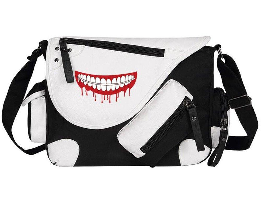 Siawasey Tokyo Ghoul Anime Kaneki Ken Cosplay Backpack Messenger Bag Shoulder Bag