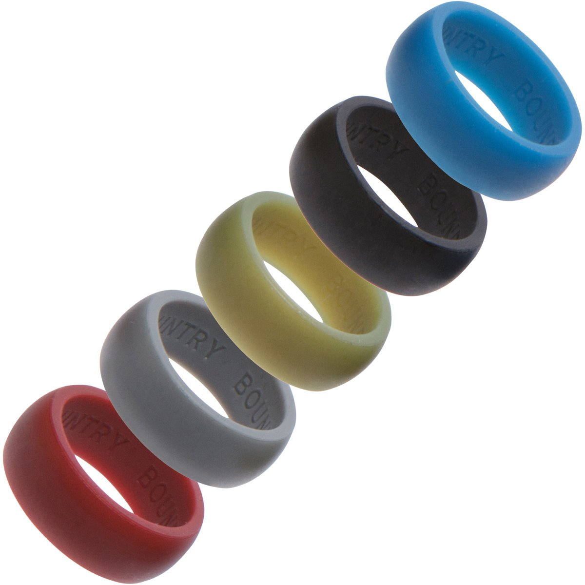 Amazon: Silicone Wedding Rings Wedding Band 5 Pack  For Active  Lifestyles, Gym & Outdoor Enthusiasts, Mens Silicone Wedding Band  Safe,  Hypoallergenic