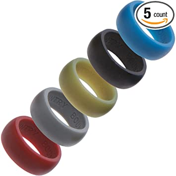 silicone wedding rings wedding band 5 pack for active lifestyles gym outdoor enthusiasts - Wedding Ring Mens