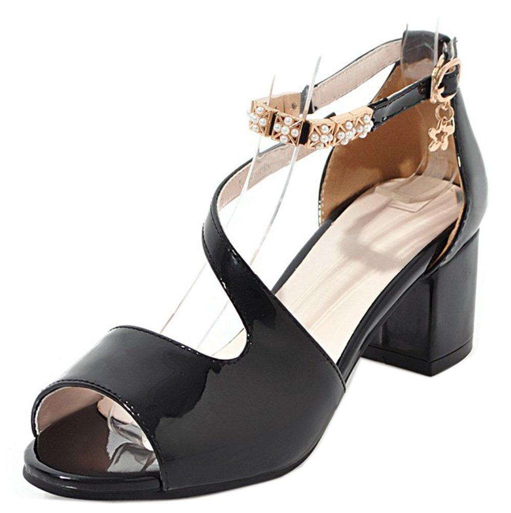 Easemax Femme Mignon Noir Métallique Peep Toe Chaussure Chaussure B00477WD16 D Eté Sandales Noir dd0688f - therethere.space