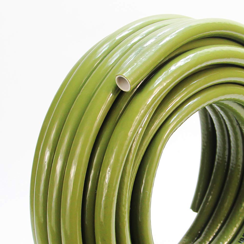 Lightweight Durable Water Hose PVC Material Flexible Hose for Household and Professional Use Green #G-5218 H042A07 Extra Strength All New Upgraded 50 FEET Homes Garden Hose 1//2 x 50