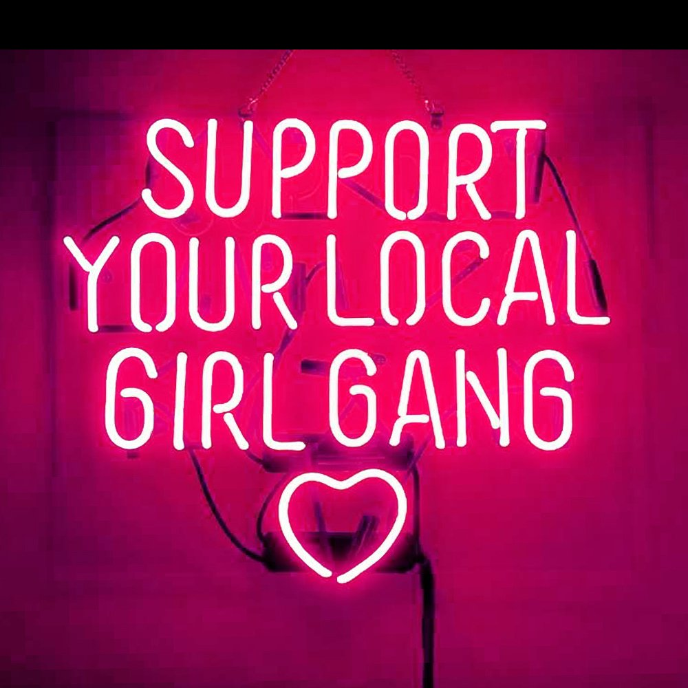 Support Your Local Girl Bang Real Glass Beer Bar Store Party Decor Neon Signs 19x15