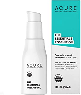 product image for ACURE The Essentials Rosehip Oil   100% Vegan   Versatile - For Any Skin & Hair Care Regimen   Pure, Cold Pressed & Rich in Essential Fatty Acids   For All Skin Types   1 Fl Oz