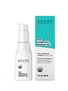 ACURE The Essentials Rosehip Oil | 100% Vegan | Versatile - For Any Skin & Hair Care Regimen | Pure, Cold Pressed & Rich in Essential Fatty Acids | For All Skin Types | 1 Fl Oz