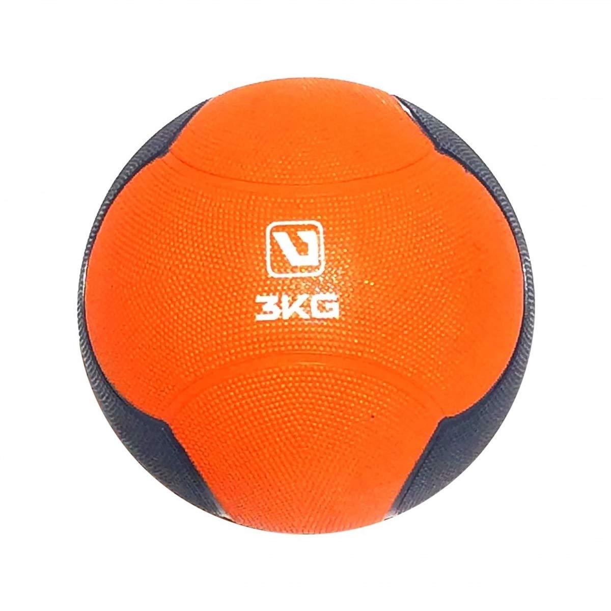 LiveUP Sports - Palla Medica 3kg Medicine Ball Professional Cross Training Core Palestra Esercizi Fitness, Orange