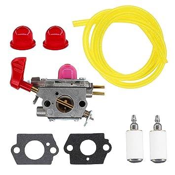 amazon com uspeeda carburetor for 545081857 zama c1u w43 poulan vs Fuel Filte Fuel Filter For Gas Blower #18