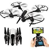 DAYE Foldable Drone with Camera 1080P HD WIFI RC Drone Quadcopter for Adults with Live Video APP Control Altitude Hold Headless Mode One Key Return 6 axis 4CH 2.4Ghz Easy Fly for Beginners X33C-1