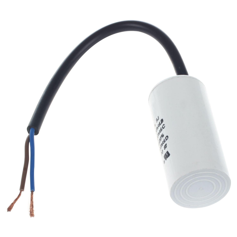 SODIAL(R) Conduttore cablato Condensatore di esercizio motore AC 6uF 450V CBB60