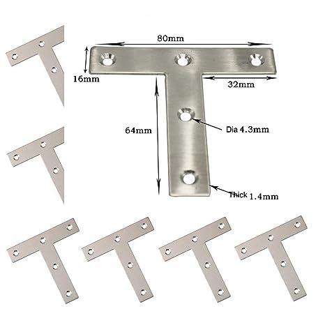 MEINO - Soporte de esquina para placa de ángulo (acero ...