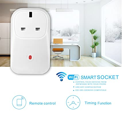 WiFi Smart Plug Timer socket Home Intelligent Outlet Switch Wireless Timer  Power Socket Remote Control Programmable Electrical Switch with Timing