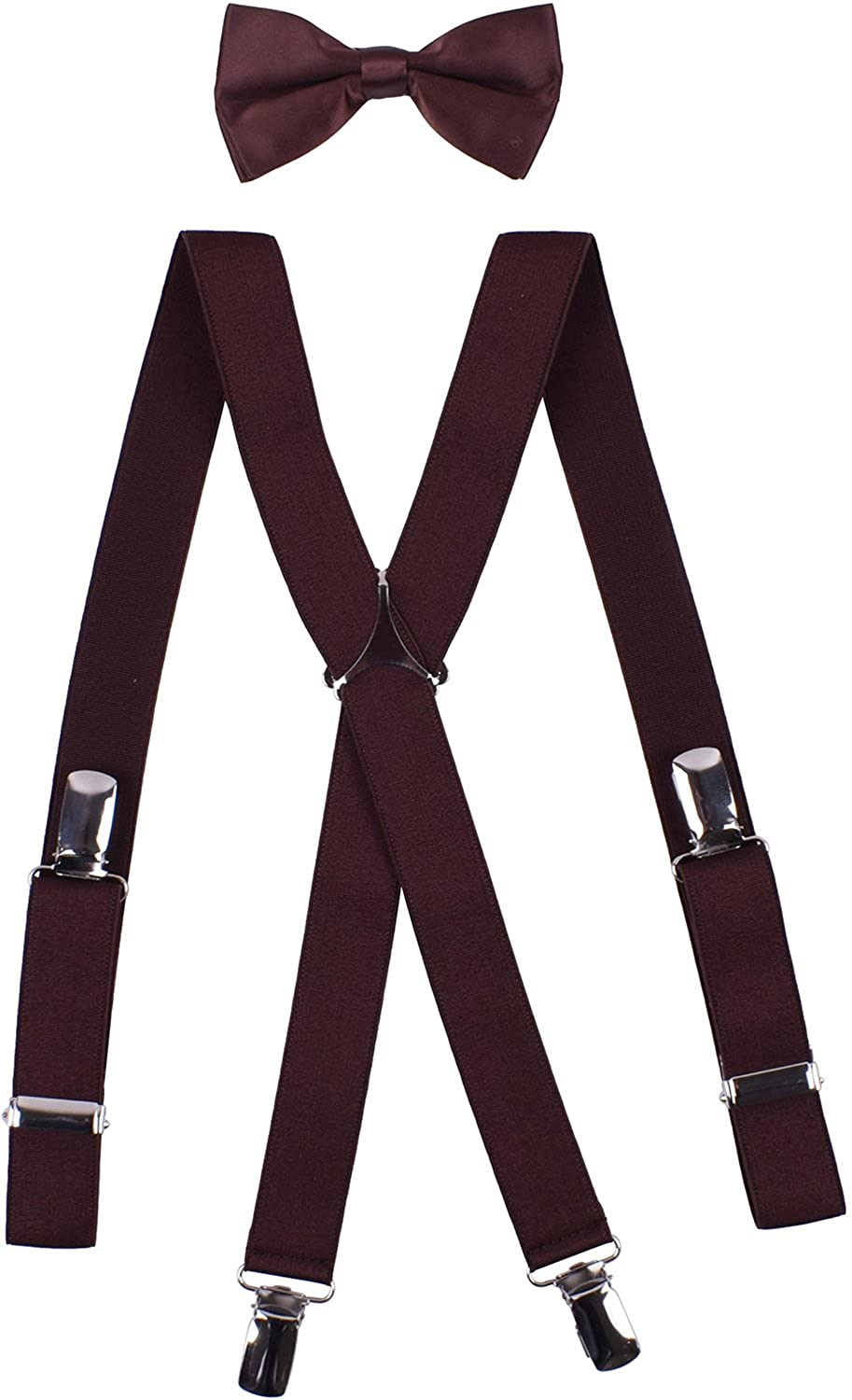 a642443d3d2f Material - Suspenders: Microfiber, Rubber, Leather, Stainless Steel. Bow tie:  Polyester, Satin. Size - 22